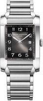 Baume & Mercier Women's Swiss Hampton Stainless Steel Bracelet Watch with Interchangeable Black Alligator Leather Strap 27x40mm M0A10021