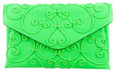 Valentino Scroll Embroidered Envelope Clutch