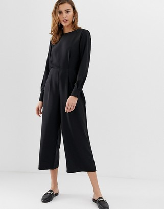Pieces Kennedy relaxed jumpsuit-Black