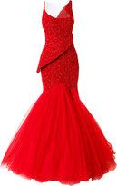 Mikael D. - asymmetric beaded gown - women - Silk - 40