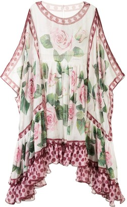 Dolce & Gabbana Tropical Rose Print Dress