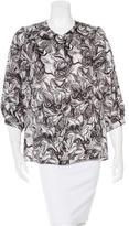Peter Som Silk Button-Up Shirt