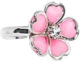 Body Candy Pink Enamel Five Petal Blooming Flower Adjustable Ring
