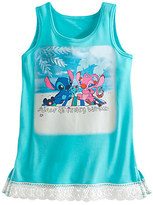 Disney Stitch and Angel Lace-Trimmed Tank Tee for Girls - Walt World