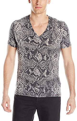 Just Cavalli Men's Snake V Neck T-Shirt