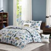 INK+IVY Kids Road Trip Twin Coverlet Set in Blue