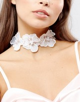 Asos Statement Lace Flower Choker Necklace