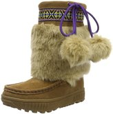 BearPaw Girl's Hope Youth Boots, Suede, Wool, Sheepskin Fur, 2 Little Kid M