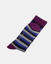Ted Baker Striped Socks Navy
