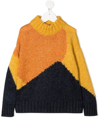 Tiny Cottons Colour-Block Knit Jumper