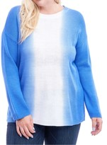 Fever Plus Size Dip-Dyed Top