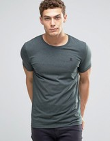 Asos Muscle T-Shirt With Embroidery In Green Marl
