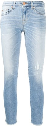 7 For All Mankind Denim Low Rise Skinny Jeans