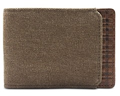 Boconi Bryant Canvas and Leather Slimster Wallet