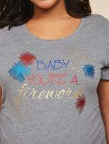 Motherhood Maternity Plus Size Ruched Maternity T Shirt