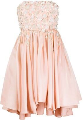 Parlor Embellished Strapless Dress