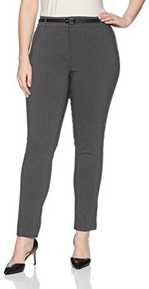 Briggs New York Plus Size Women's Belted Pant