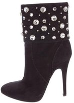 Giuseppe Zanotti Embellished Suede Ankle Boots