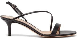 Gianvito Rossi Manhattan 55 Leather Sandals - Womens - Black