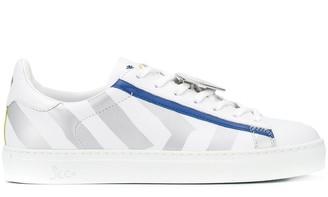 Rossignol x JCC striped low-top sneakers