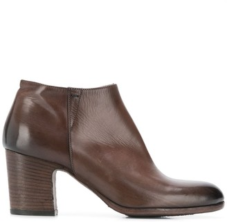 Pantanetti stacked heel ankle boots