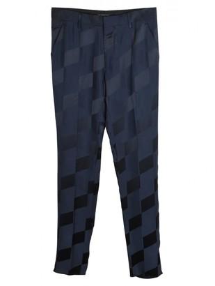 Christopher Kane Navy Viscose Trousers