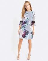Little Mistress Floral Print Shift Dress