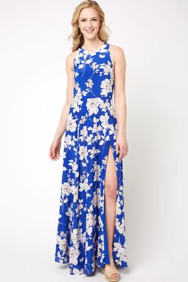 Yumi Kim Dream Silk Maxi Dress Blue Multi S