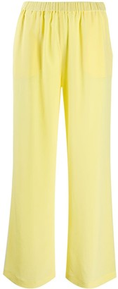 Aspesi Flared Silk Trousers