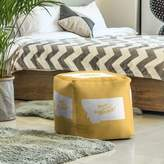 Helena East Urban Home Home Sweet Cube Ottoman East Urban Home Upholstery Color: Yellow