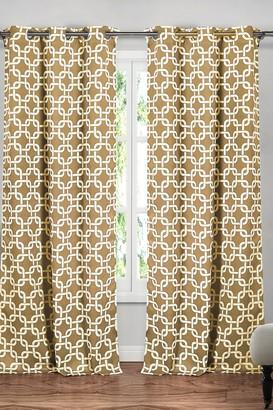 Duck River Textile Kristin Blackout Grommet Curtain - Set of 2 - Wheat