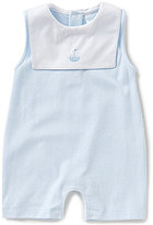 Edgehill Collection Baby Boys Newborn-6 Months Nautical Embroidered Shortall
