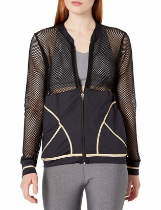Luli Fama Women's Fishnet Bomber Jacket