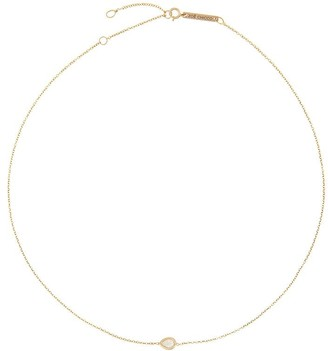 Zoë Chicco 14kt Yellow Gold Single Horizontal Diamond Teardrop Chain Necklace