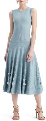 Oscar de la Renta Midi Sweater Dress