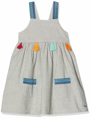 Tuc Tuc Grey Pockets Fantasy Fabric Dress for Girl Wild Side