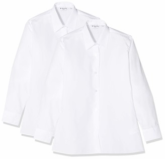 Trutex Girl's Nlb-wht School Top