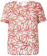 Peter Pilotto sheer embroidered blouse