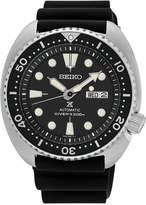 Seiko Men's Automatic Prospex Diver Black Silicone Strap Watch 45mm SRP777