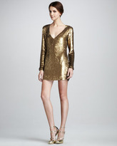 Sequined V-Neck Dress