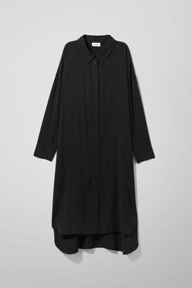 Weekday Gladys Shirt Dress - Black
