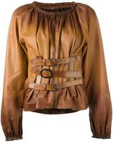 Tom Ford buckle detailing zipped shirt