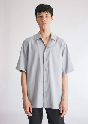 NEED Men's Jasper Camp Collar Button Up in Blue, Size Extra Small