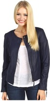 Sanctuary Leather Parisian Jacket (Dark Iris) - Apparel