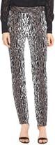 St. John Leopard Jacquard Skinny Ankle Pant