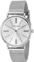Vernier Women's Quartz Metal and Alloy Dress Watch, Color:Silver-Toned (Model: VNR11200SS)