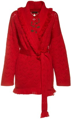 Alanui Wrap Knit Wool Jacket