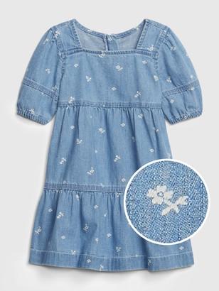 Gap Toddler Denim Tiered Dress