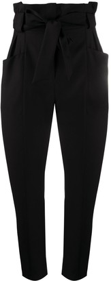 IRO Paperbag-Waist Cropped Trousers
