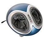 HomCom Multi-function Dual Foot Massager with Heat and Remote Control - Blue